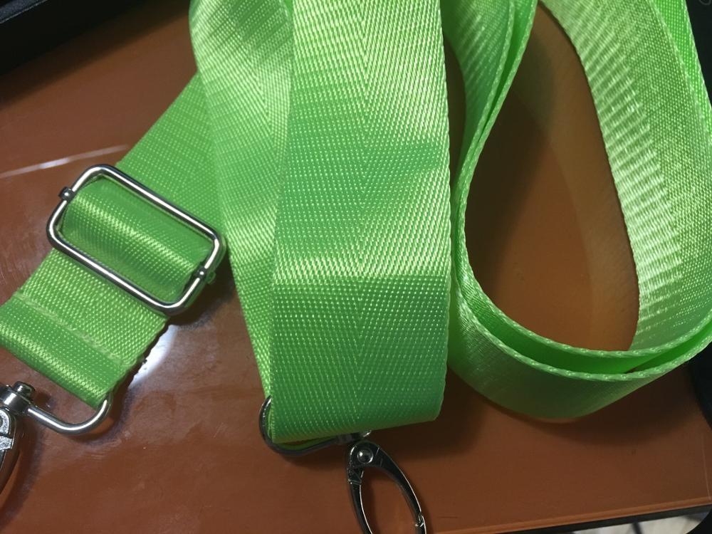Misterolina 1PC Nylon Bag Strap adjustable shoulder bags DIY Belt 2.5cm *1.8m crossbody bags strap 5 colors Luggage Accessories photo review