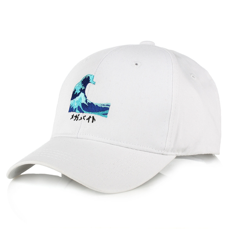 unisex adjustable Japn Sea Wave embroidery   baseball     Cap   Hats Cotton Katsushika Hokusai   Caps   Kanagawa surf snapback hats gorra