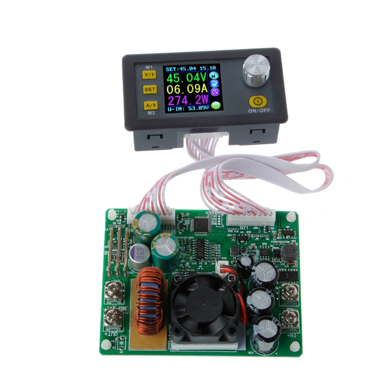 OOTDTY Adjustable Constant Voltage Step-down LCD Power Supply Module Voltmeter dc dc step down power supply adjustable module with lcd display with housing case