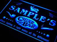 Qz Tm Name Personalized Custom Cigar Pipe Bar Lounge Neon Sign