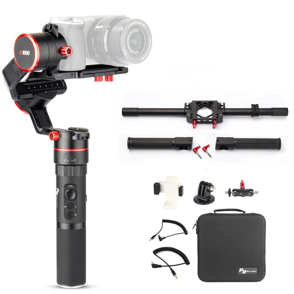 Feiyu a1000 With Dual Handle Grip 3-Axis Gimbal Stabilizers For Sony a6500 a6300 iPhone GoPro sony a6500