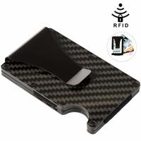 Vbiger Men Women Credit Card Holder Anti Protect Blocking Rfid   Wallet   Portable ID Cardholder Clip Travel Metal Case