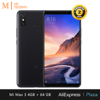 [Global Version] Xiaomi Mi Max 3 Smartphone 6.9(RAM 4GB + ROM 64GB, Dual SIM, Large Battery 5500mAh, Dual Camera with AI)