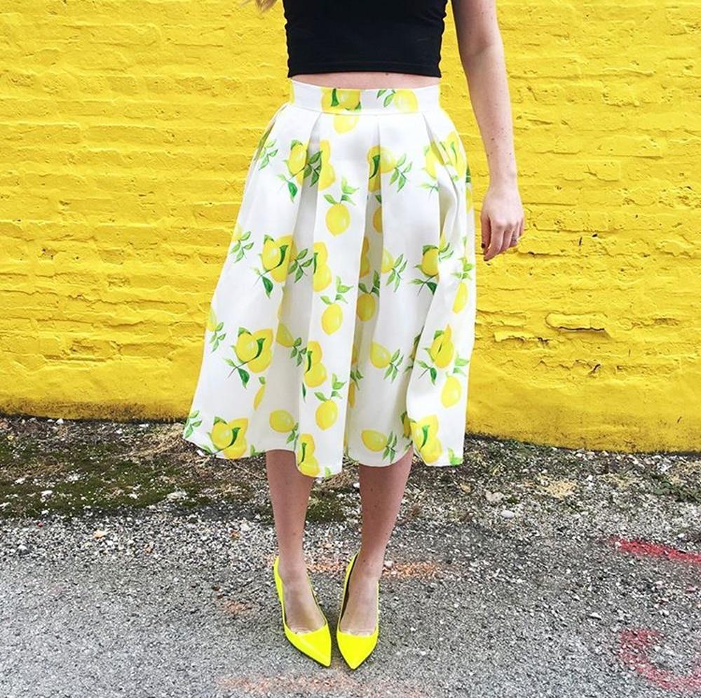 Юбка с лимонами с Алиэкспресс
