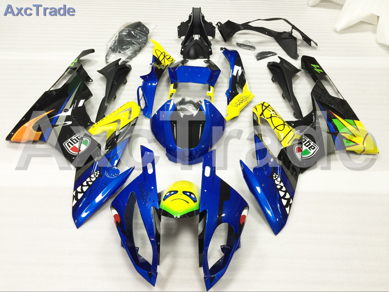 Motorcycle Fairings Kits For BMW S1000RR S1000 2015 2016 15 16 ABS Plastic Injection Fairing Bodywork Kit Yellow Blue Black A460 motorcycle blue bodywork kit fairing for bmw s1000rr s 1000 rr s 1000rr 2015 15 injection mold fairings cowl set uv painted