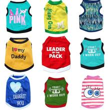Big Eyes Clothes French Bulldog Dog Pakaian Untuk Pomeranians Strip Tshirts In Clothing Miniature dog Vest Cloth Costumes E