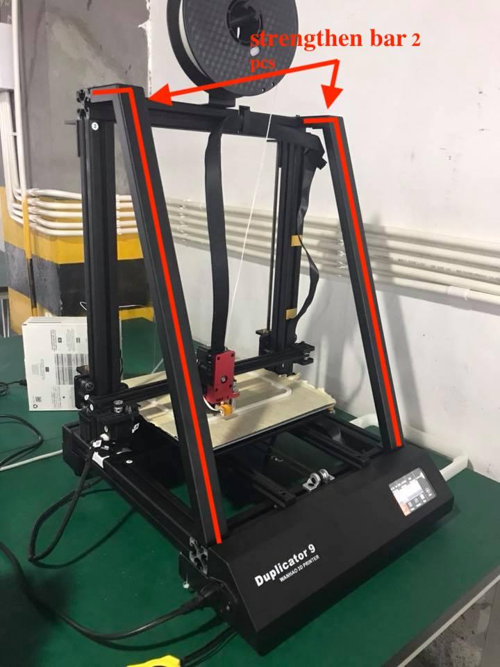 Pour 3D Imprimante Wanhao D9/300 kit de mise à niveau-D9/300 Nervure (Renforcer bar)