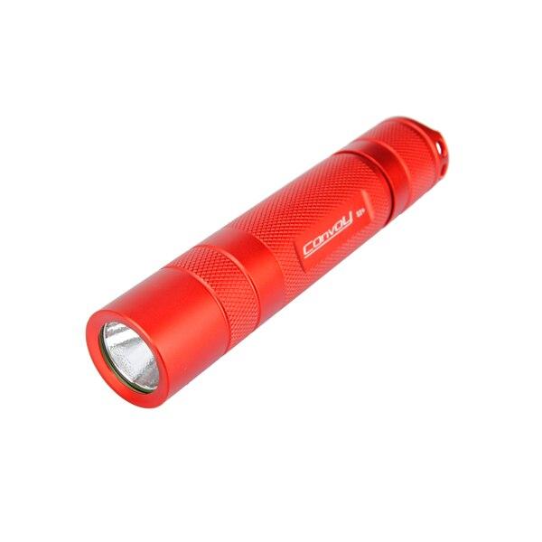 Новый Алюминий сплав конвой S2 + красный светодиодный фонарик хоста В виде ракушки для DIY ...