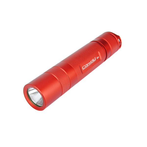 New Aluminum Alloy Convoy S2+ Red LED Flashlight Host Shell For DIY