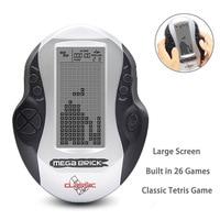Ретро Классическая портативная игровая консоль тетрис портативный детский мини Ностальгический встроенный 26 игр большой экран тетрис игр...