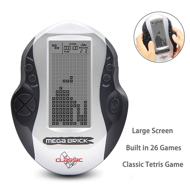 Retro Classic Handheld Tetris Game Console Portable Children Mini Nostalgic Built in 26 Games Large Screen Tetris Game Machine
