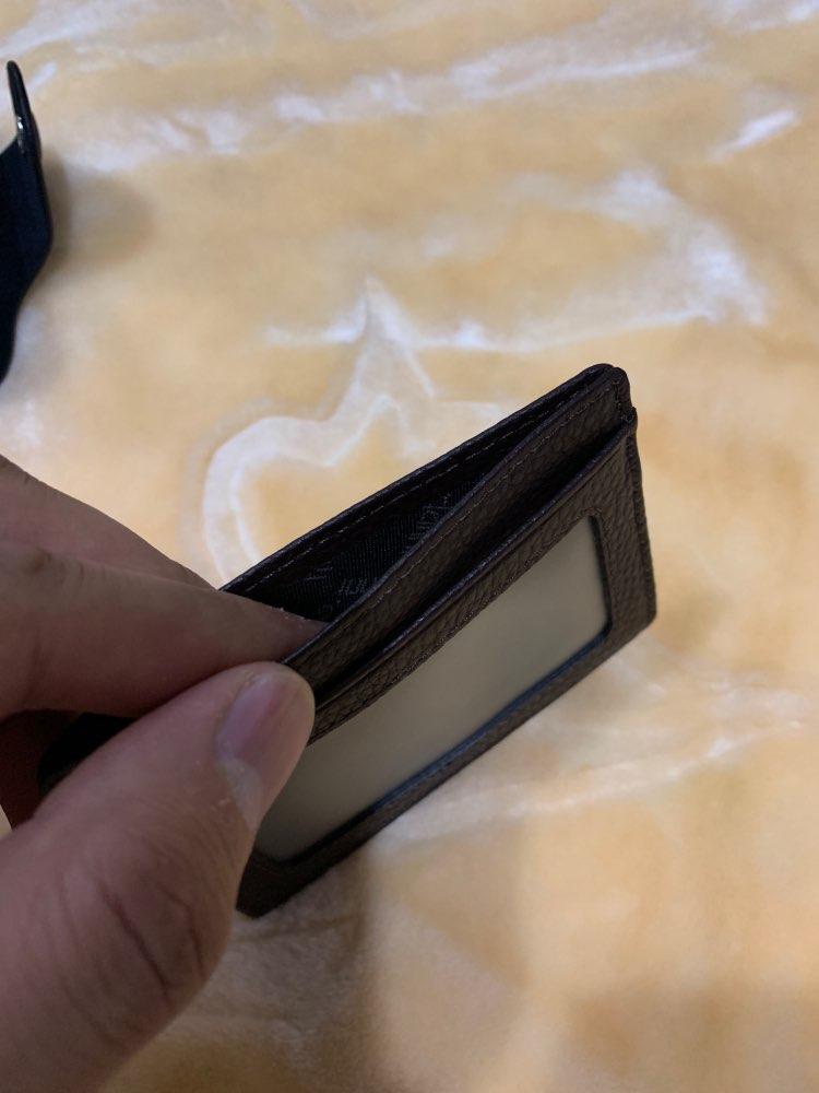 Ultradunne kaarthouder Mini portefeuilles kleine koe lederen tas Hoge kwaliteit kaarthouder met 4 slots Mode Stijl Nieuw photo review
