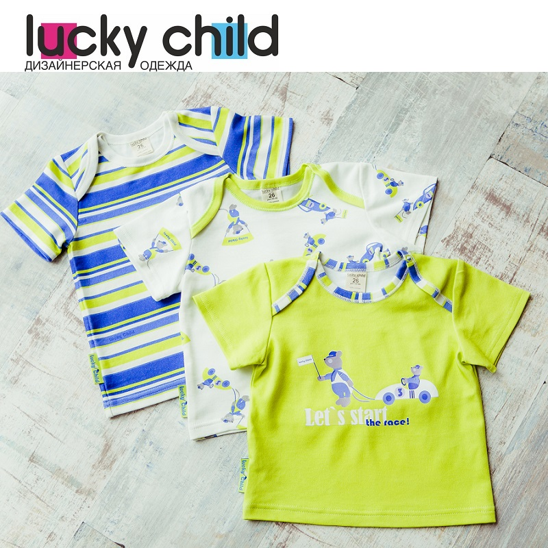 T Shirts Lucky Child for boys 30-118/3 Tops Baby clothing T Shirt Children clothes Kids Top t shirts lucky child for girls and boys 31 12 top kids t shirt baby clothing tops children clothes
