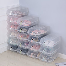Multifunctional Storage box  Thicken Transparent Plastic Stackable Case Sundries Container Home Use Shoebox