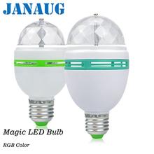 New 3W 6W E27 Colourful Change Led Bulb Lamps Auto Rotating lighting AC85-265V for holiday lighting KTV Decoration Bar Lighting cheap JANAUG LED Bulbs 360° Epistar 90-260V 50000 ROHS Spotlight Bulb 105mm 150mm living room 3W 6W RGB
