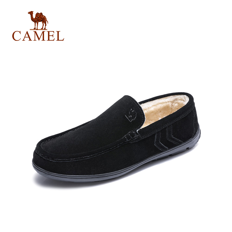 aad85530873 Detail Feedback Questions about CAMEL Men Winter Shoes New Snow Loafers  with Warm Fur Genuine Leather Scrub Slip on Man Casual Flats Men Moccasins  on ...