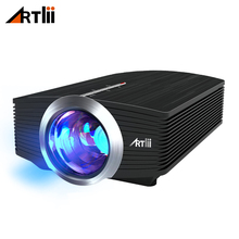 hot deal buy artlii mini portable led video projectors 1600 lumens with stereo speaker for gaming parties home cinema theater projector