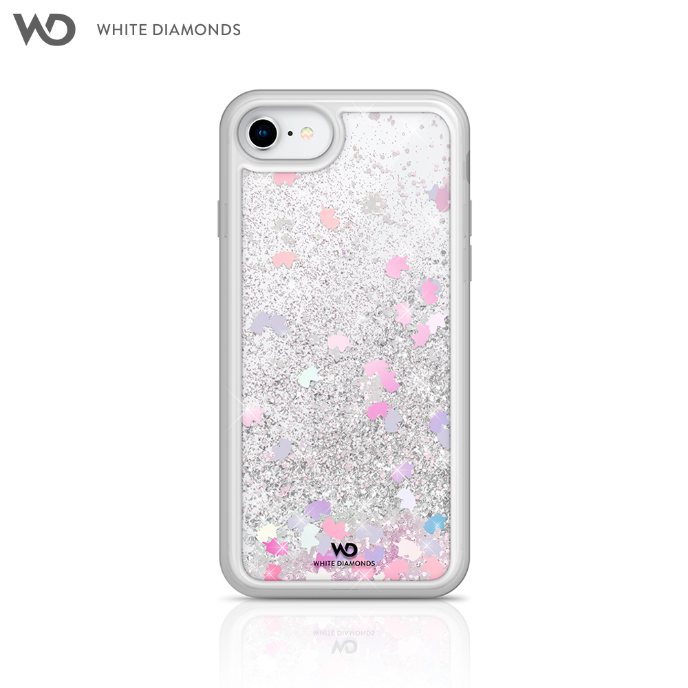Case White Diamonds Sparkle Unicorns for iPhone 8/7/6/6 S color transparent kinston paper cut butterfly pattern pu leather full body case w stand for iphone 6 4 7