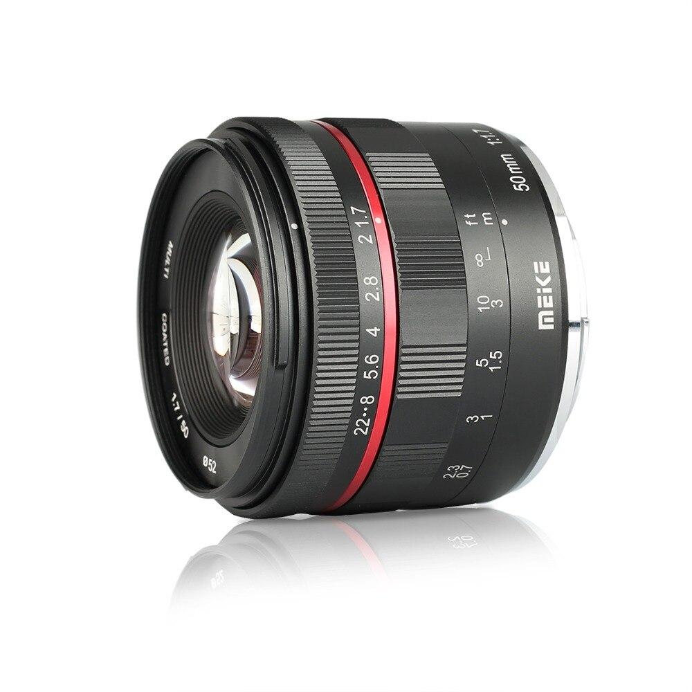 Meike MK E 50 1 7 50mm f1 7 Large Aperture Manual Focus lens Full frame