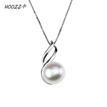HOOZZ.P Sterling silver 9-10mm white freshwater cultured pearl pendant