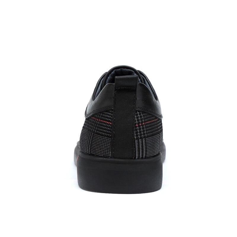 Sneakers 45 46 Cuir Carton Confortable En Semelles Chaussures De Anti Caoutchouc Mâle Véritable Taille Hommes Black Décontractées slip Noir Grande Luxe Appartements O0wd8x