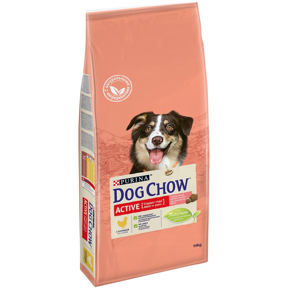 Dog Dry Food Dog Chow Adult Active for adult active dogs of all breeds, chicken, 14 kg dog food dog chow adult for adult dogs of all breeds chicken 2 5 kg