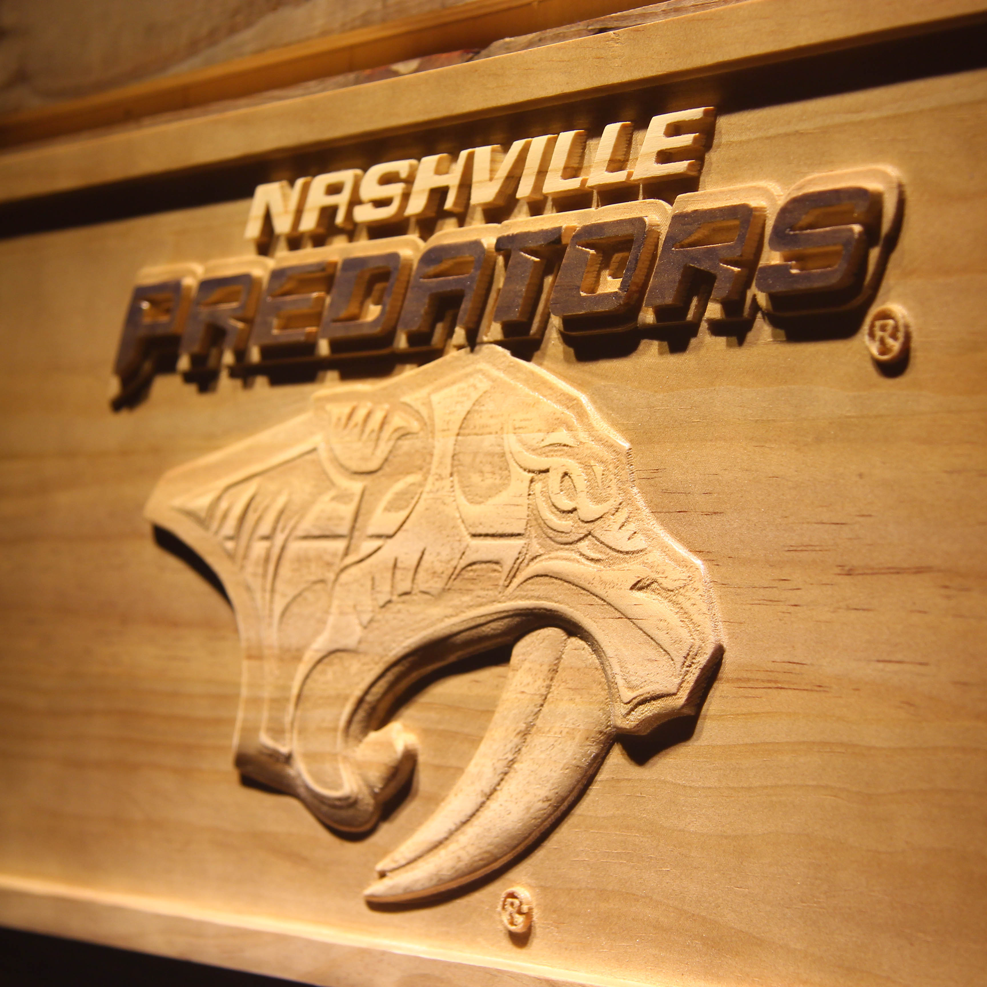 Nashville Predators 3D Wooden Sign-in Plaques & Signs from Home ...