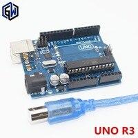 10set UNO R3 For Arduino Compatible MEGA328P ATMEGA16U2 10PCS UNO R3 10PCS Cables