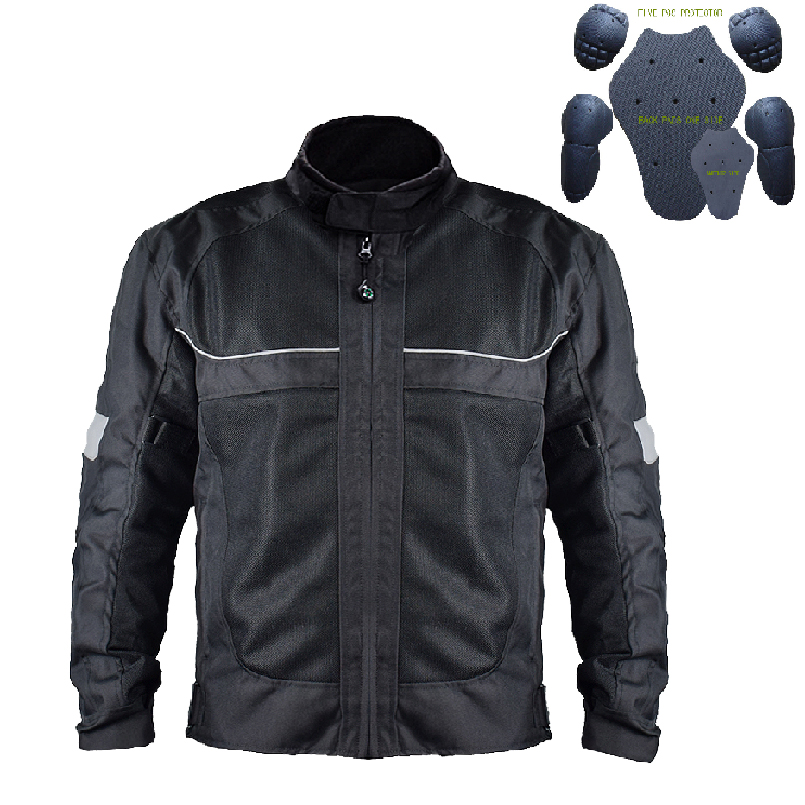 Motorcycle Jacket Summer Breathable Mens Motocross Off-Road Jacket Mesh Moto Racing Jacket Motorbike Protective Clothing