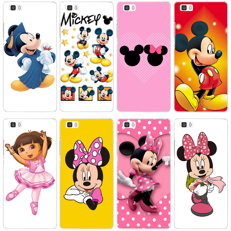108F Mickey Mouse Transparent Hard Thin Skin Case Cover For Huawei P 6 7 8 9 Lite Plus Honor 6 7 8 4C 4X G7