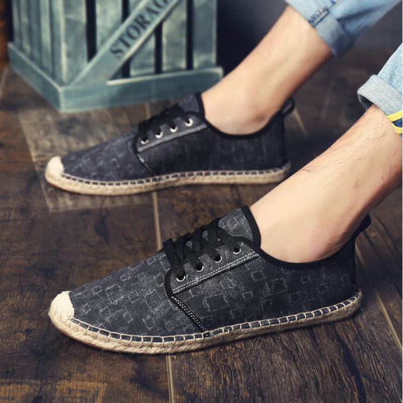New Mens Casual Fashion Canvas linen Slip On Driving Mocassin Loafers shoes