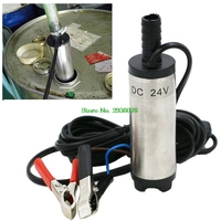 DC 24V Stainless Steel Submersible Diesel Fuel Water Oil Pump 12L Per Minute 38mm
