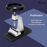 Cymii Professional TOP Big Head Adjustable Watch Bench Case Opener Watch Repair Tools Kits For Watchmaker Tool Set Back Remover