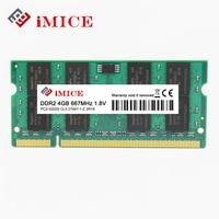 IMICE Laptop RAMs DDR2 4GB 667MHz PC2 5300S 800MHz PC2 6400S 200Pin DDR2 1GB 2GB 4GB