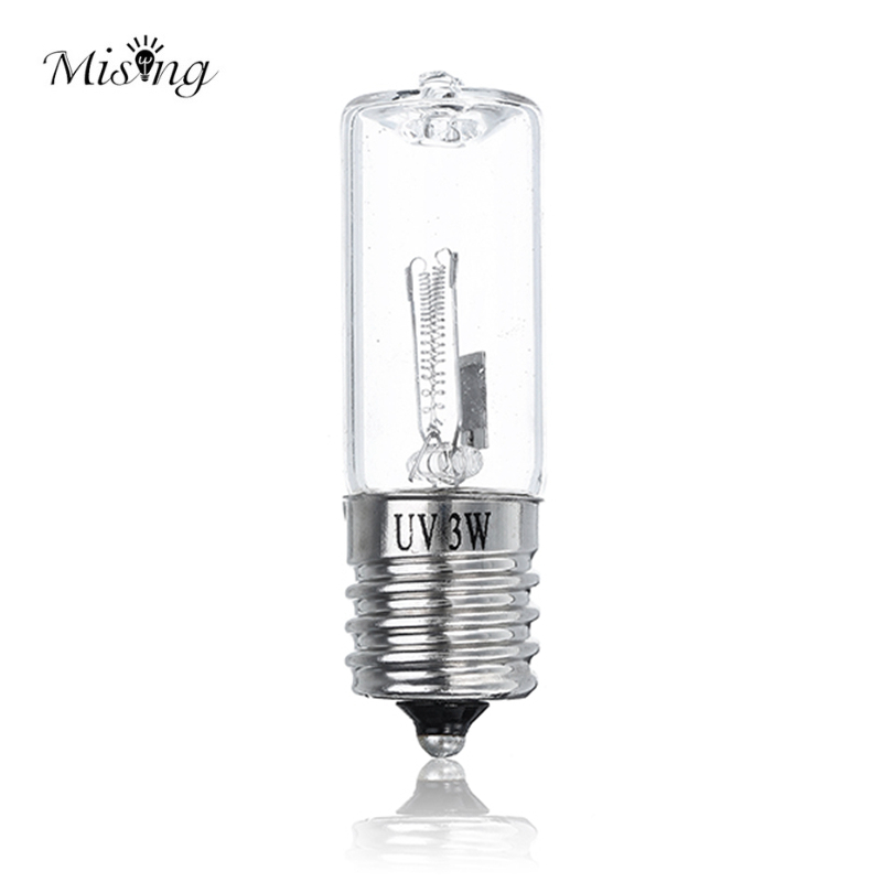 Mising E17 Ultraviolet Light Bulb Output DC24V 0.3A 3W UV Ozone Sterilizing Lamp AC100-240V