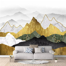 Abstract golden ink landscape art background wall professional production mural wholesale wallpaper poster photo