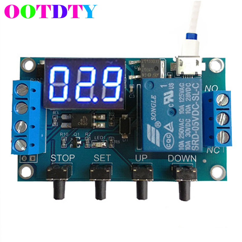 6-30V 1-Channel Relay Module Delay Cycle Timing On/Off Trigger Circuit Switch 12v timing delay relay module cycle timer digital led dual display 0 999 hours