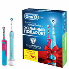 Набор электрических зубных щеток Family Pack (Oral-B PRO 500 и Oral-B Stages Power Frozen)(Russian Federation)