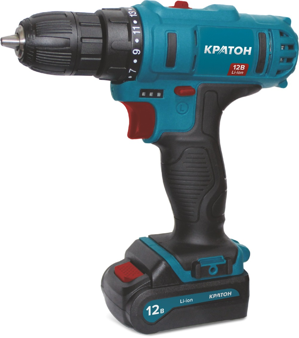 цена Drill-screwdriver rechargeable KRATON CD-12-Li-1,5 онлайн в 2017 году