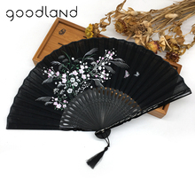 Free Shipping 1pcs Chinese Style Flower Blossoms Hand Fan Christmas Birthday Decoration Wedding Gifts for Guests Party Supplies