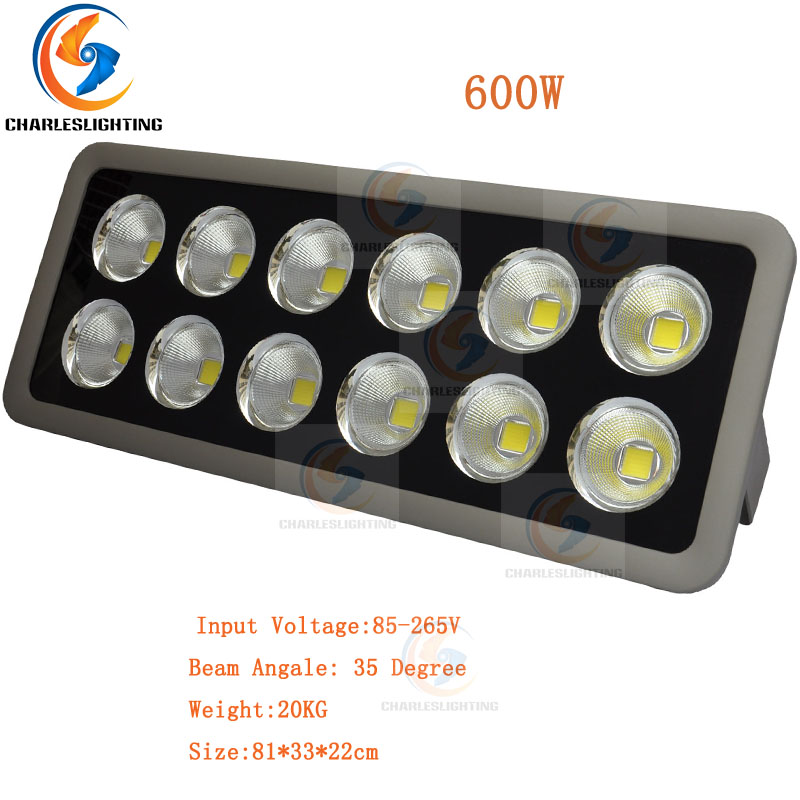 CHARLESLIGHTING 3 Years Warranty LED Floodlight 400W/500W/600W High Power Outdoor Lamp Waterproof IP65 For Construction Site