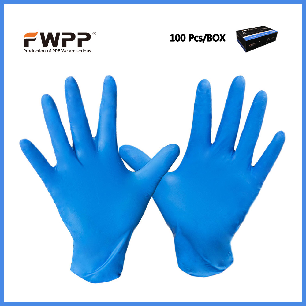 FWPP Disposable Nitrile Gloves Medical Grade, Powder Free, Latex Free, Disposable, Non Sterile, Food Safe,S M L, Indigo 50 pcs  free shipping 500g bag food grade red yeast rice powder extract health nutrition food