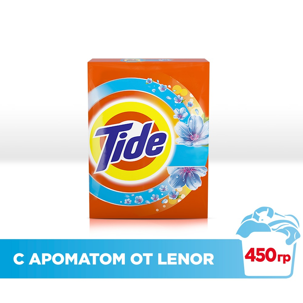 Washing powder Tide Automatic 2in1 Lenor effect 3 washes 450 gr.