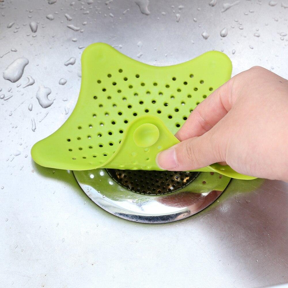 Creative Kuchyňské dřezové odtokové filtry sifonové odtokové STOCK HAIR cedník Koupelnový nástroj pro čištění detailů kuchyňského dřezu ...