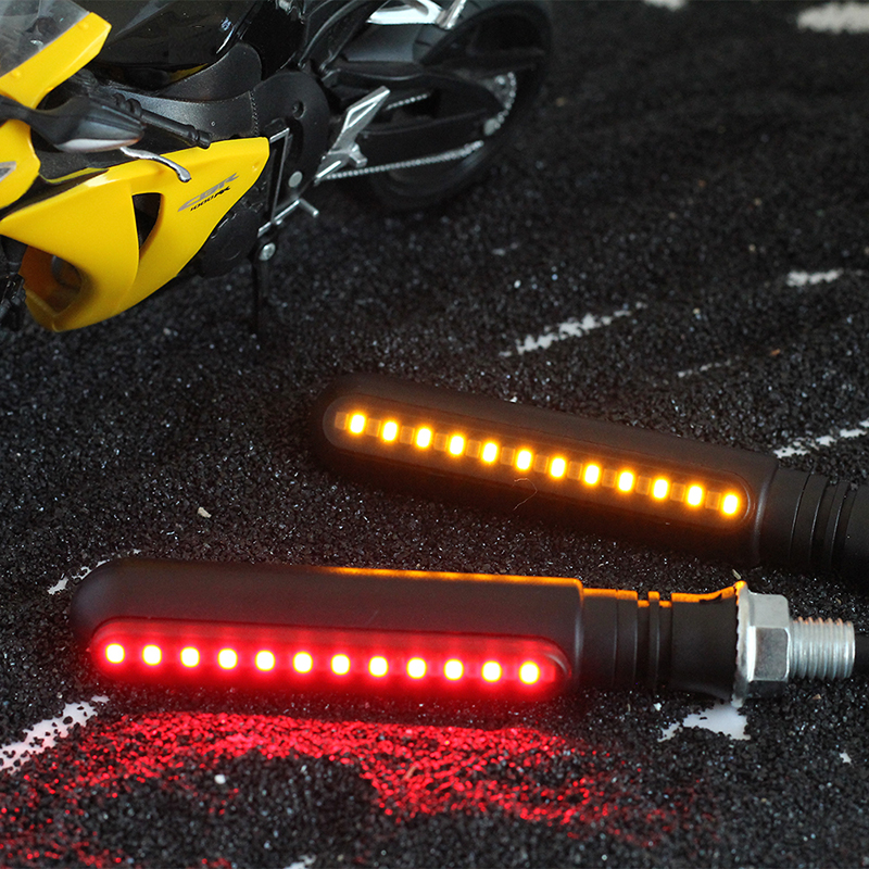 4pcs Motorcycle Turn Signals 4e Mark Led Flowing Water Flashing Lights Stop Signals Tail Flasher/running Blinker Drl For Honda Home