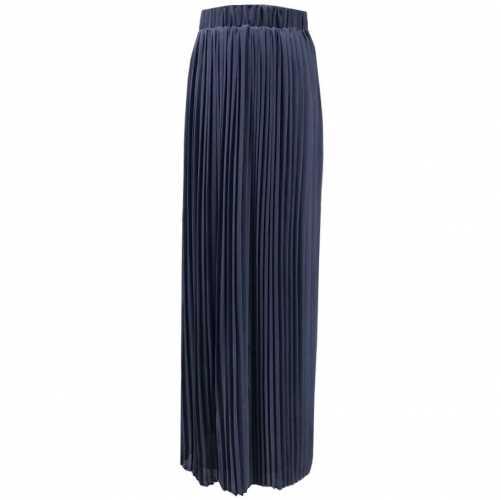 مطوي ماكسي تنورة طويلة عالية الخصر التجعيد تمتد الشيفون مسلم نصف فستان دبي الإسلامية مسلم المرأة المعتدلة