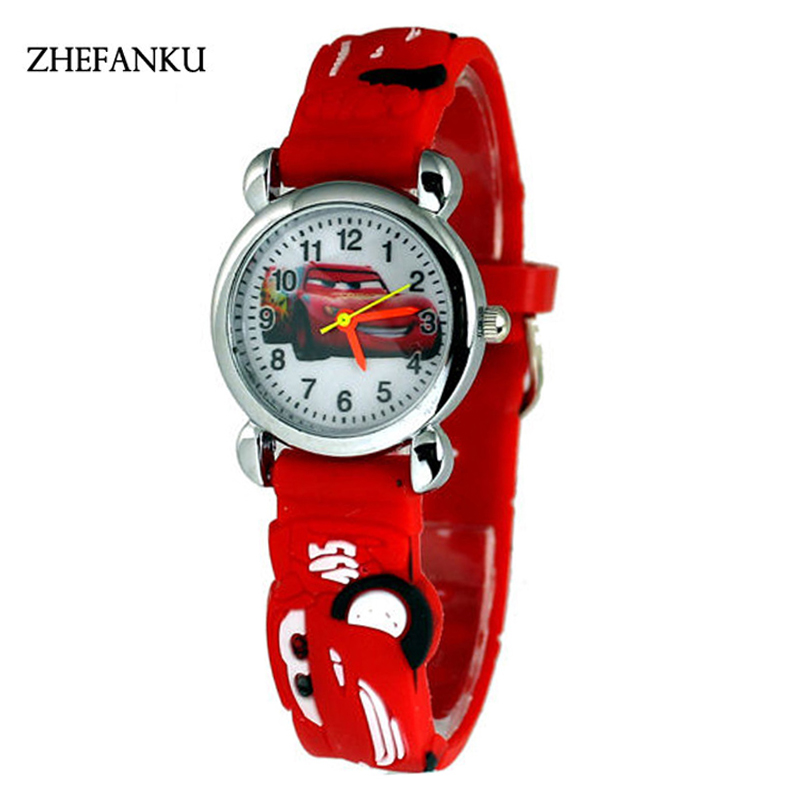 3D Cartoon Lovely Kids Girls Boys Children Students Quartz Wrist Watch Very Popular Watches Color Random gift watch for girls lovely clay bear childlike wrist watch imported japan quartz children real leather cartoon relojes nw7052