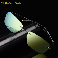 Yi Jiang Nan Brand Designer Alloy Super Light Rimless Fashion Sunglasses Men Polarized UV400 Fishing Quality Driving Sun glasses redken помада крем redken brews 100 мл