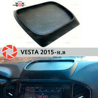 For Lada Vesta 2015- organizer on front panel console plastic ABS embossed pocket car styling accessories decoration storage