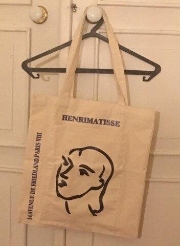Mode Vrouwen Boodschappentas Kruidenier Eenvoudig Afdrukken Brief Mode Grote capaciteit Casual Canvas Wild Canvas Katoen Ecobag bakken photo review